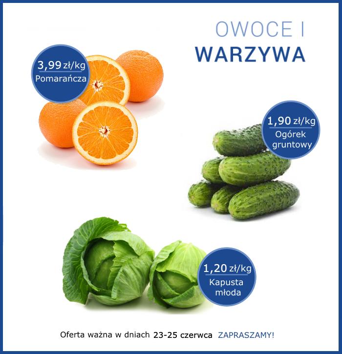 Promocja owoce i warzywa 23-25 czerwca